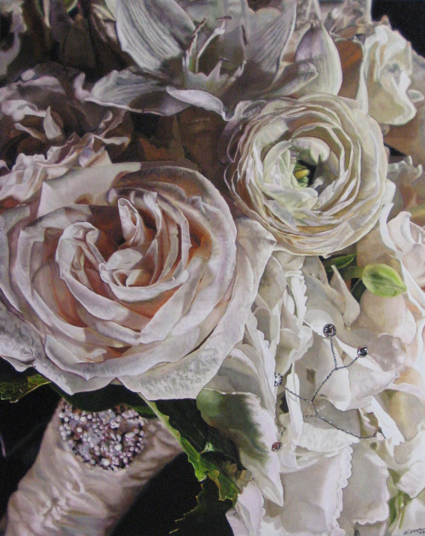 Mary & Eric Wedding Bouquet Painting