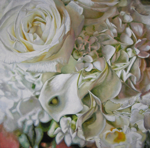 Anna & Wade Wedding Bouquet Painting