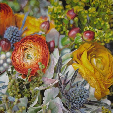 Annie & David Wedding Bouquet Painting