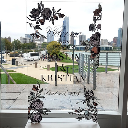 Joslin & Kristian Acrylic Seating Chart