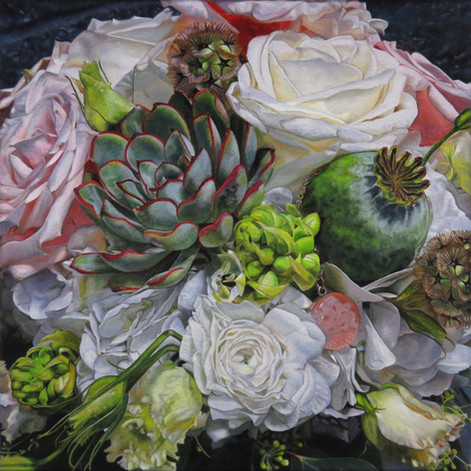 Mary's Wedding Bouquet Painting