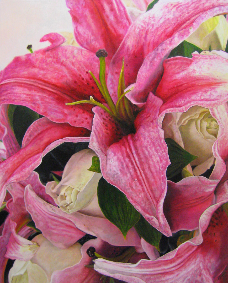 Hollie & Tony Wedding Bouquet Painting