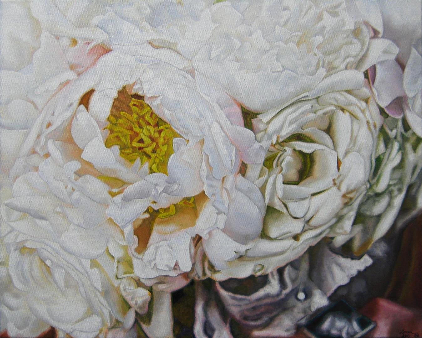 Gina & Tony Wedding Bouquet Painting