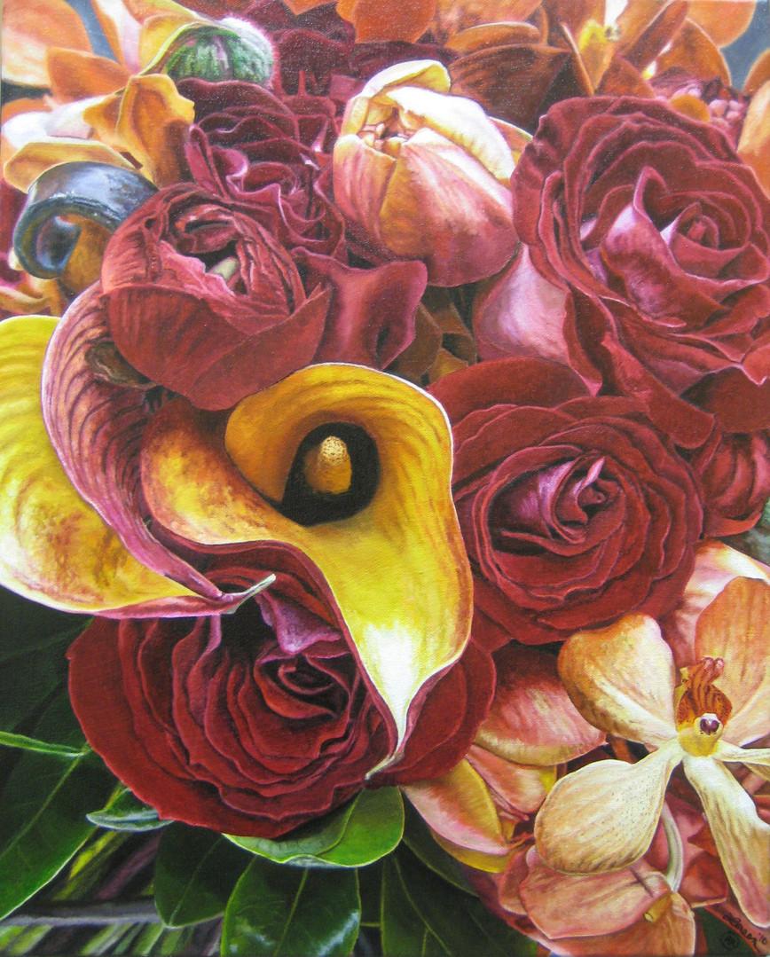 Karen & Brandon Bridal Bouquet Painting