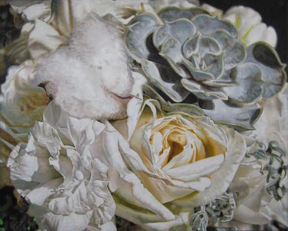 Madi & Bret Wedding Bouquet Painting