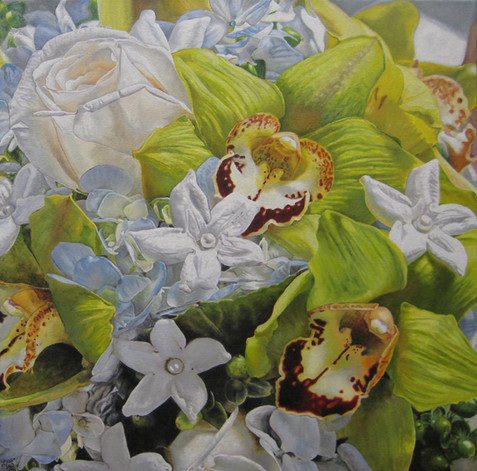 Stephanie & Ben Wedding Bouquet Painting