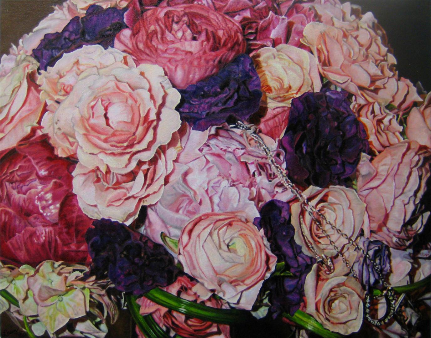 Paula Jean & Brian Wedding Bouquet Painting