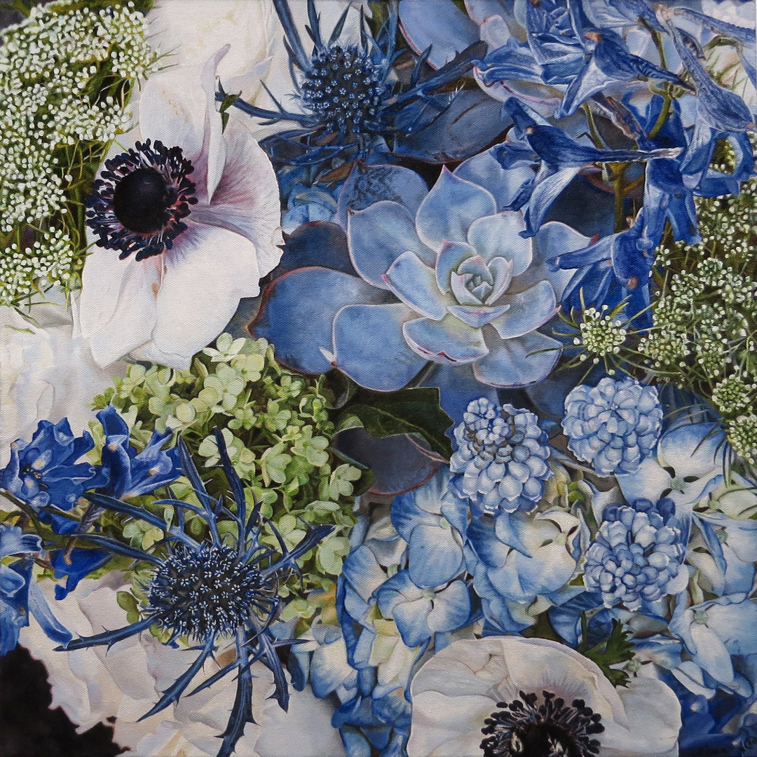 Jill & Doug Wedding Bouquet Painting