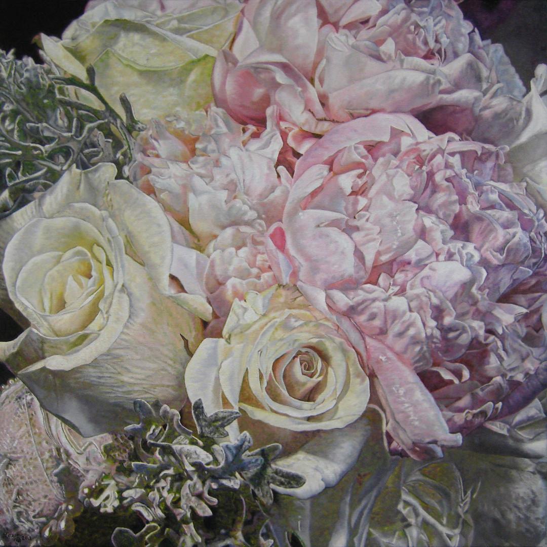 Allie & Tom Wedding Bouquet Painting