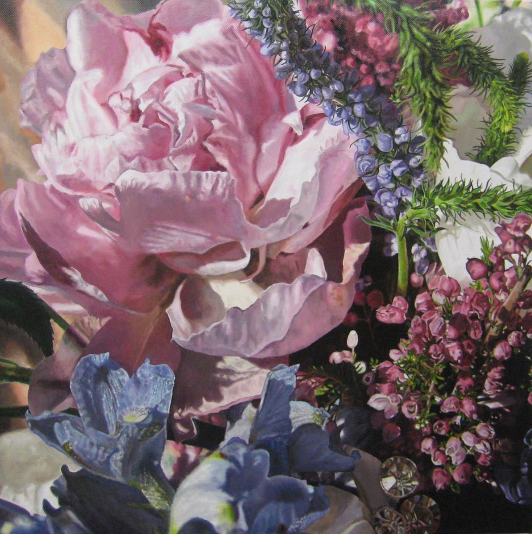Rachel & Brian Wedding Bouquet Painting