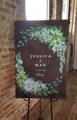 Jessica & Max Welcome Board