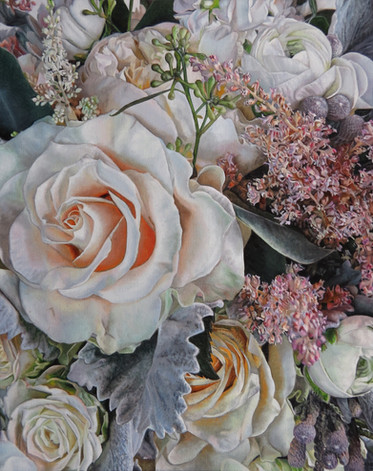 Pamela's Wedding Bouquet Painting