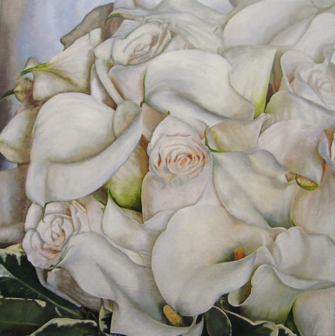 Rachel & Jason Wedding Bouquet Painting