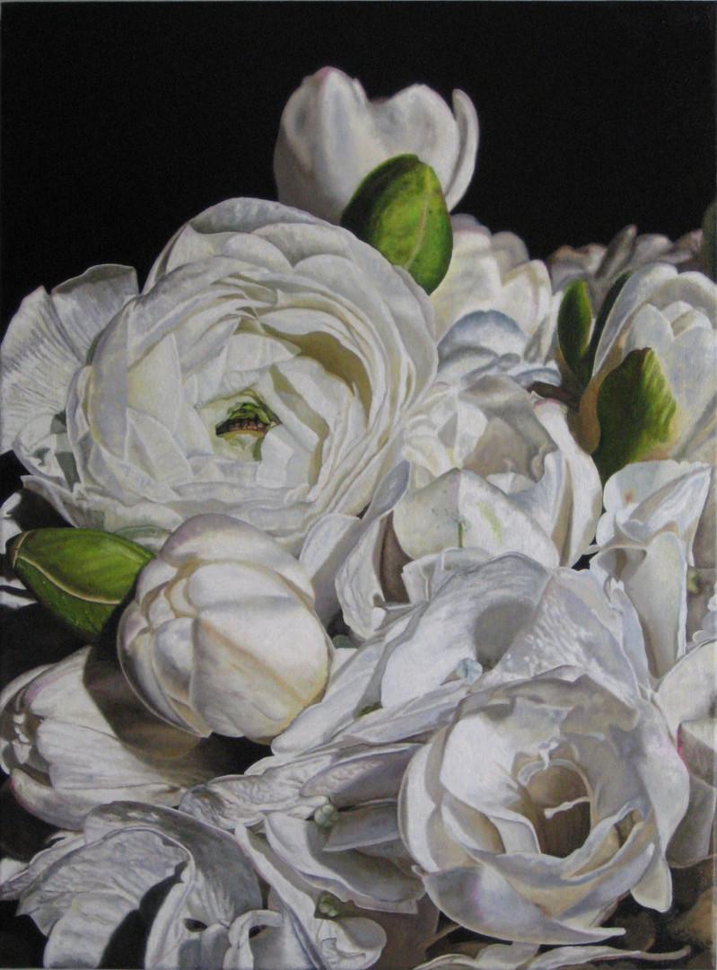Victoria & Zak Bridal Bouquet Painting