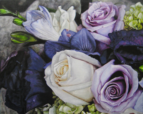 Kelly & Matt Wedding Bouquet Painting