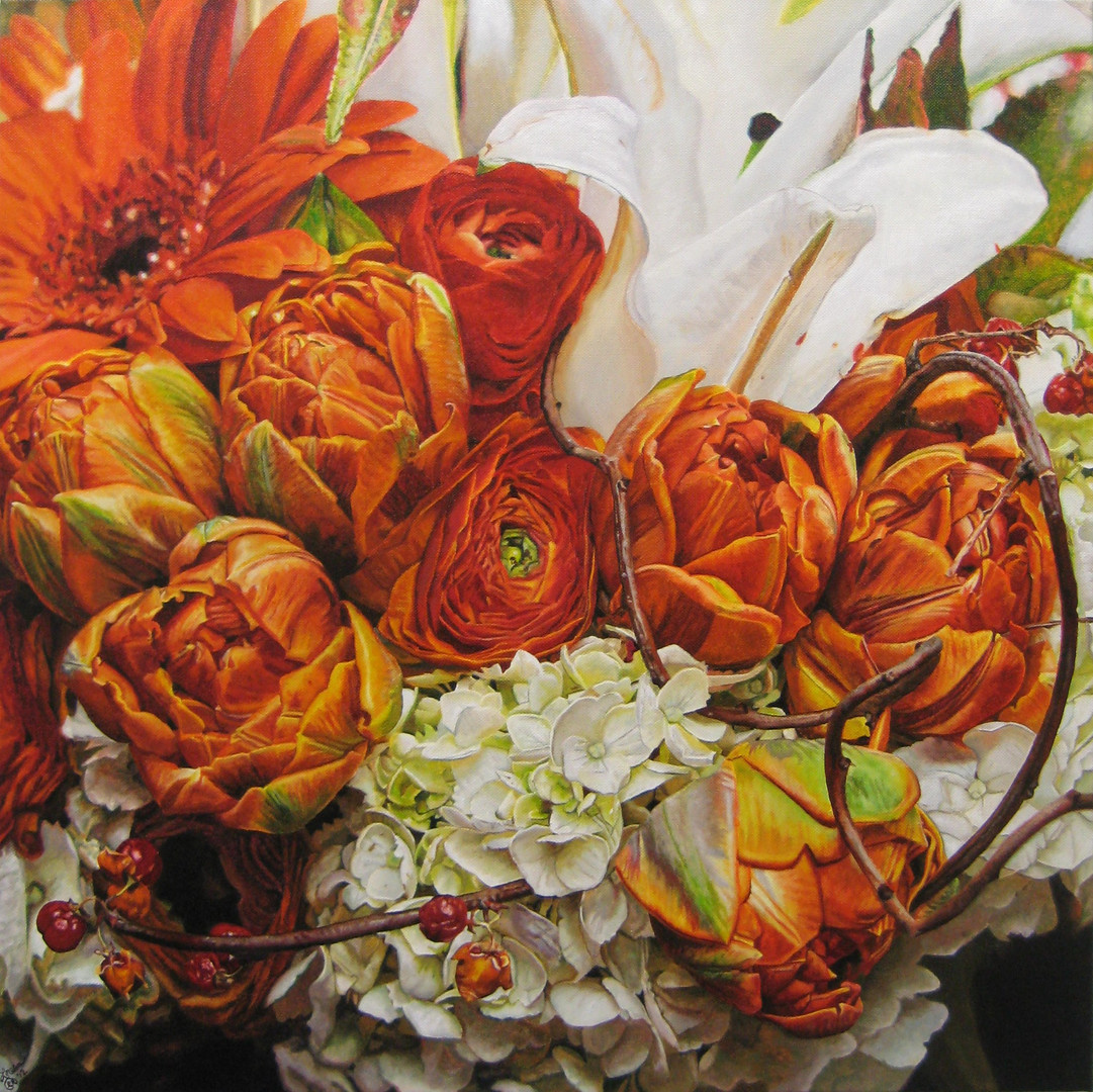 Vicky's Wedding Bouquet Painting