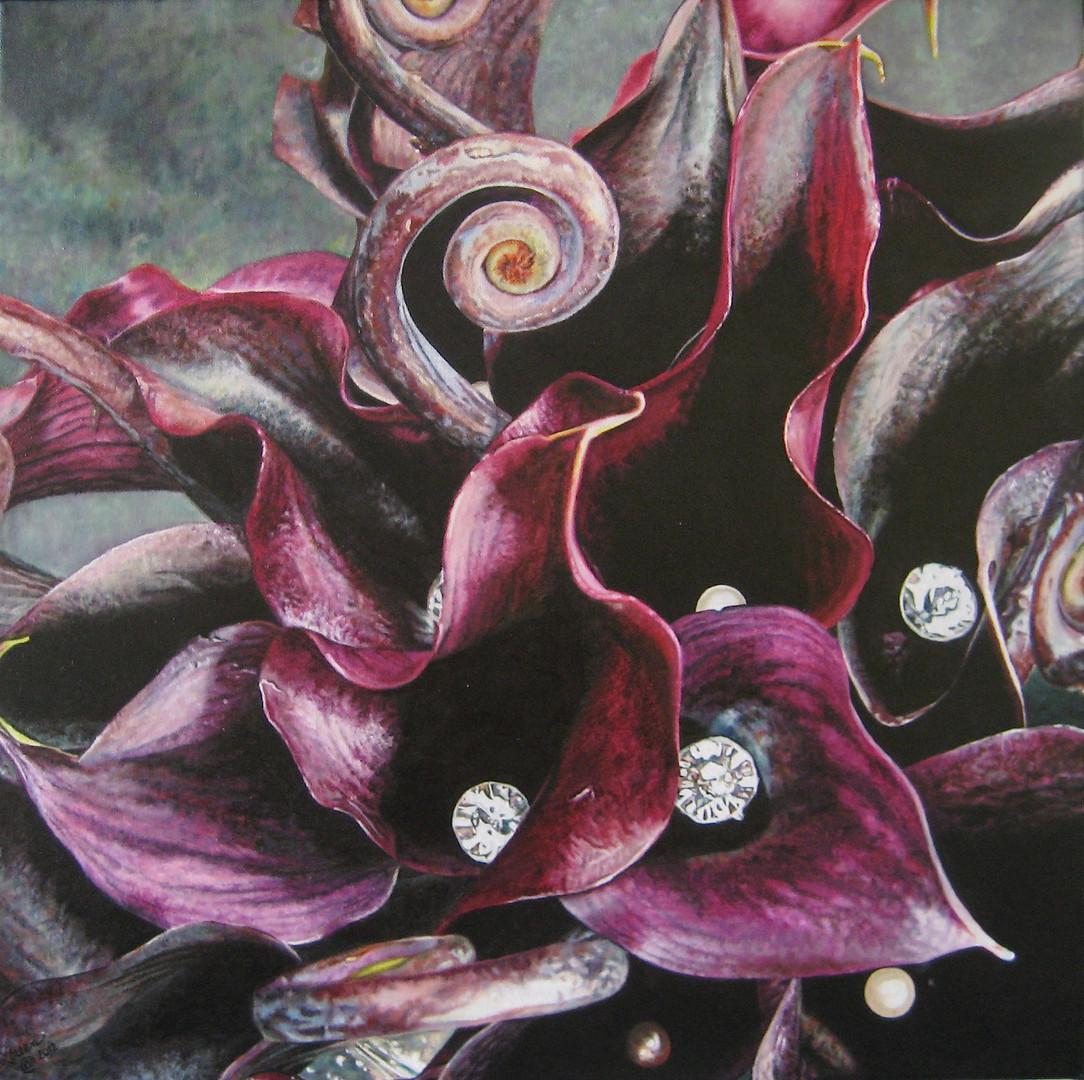 Maria & Alex Wedding Bouquet Painting