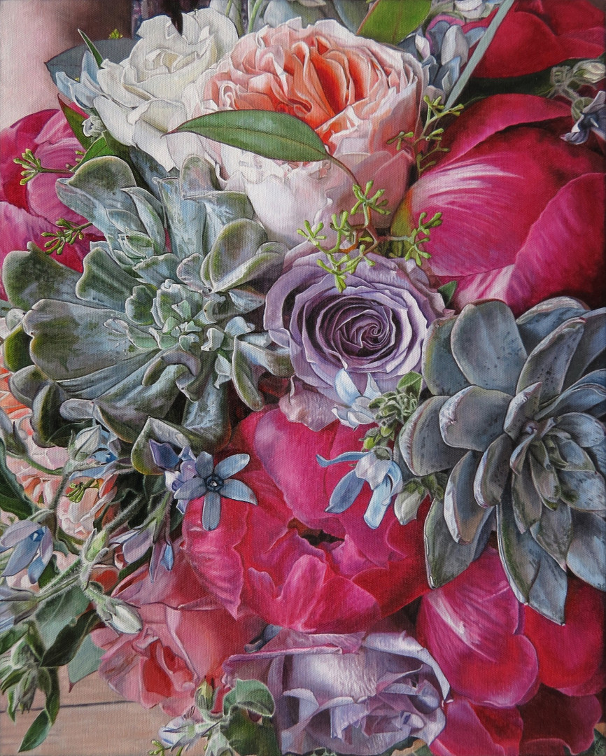 Susan & Jerry Cox Wedding Bouquet Painting
