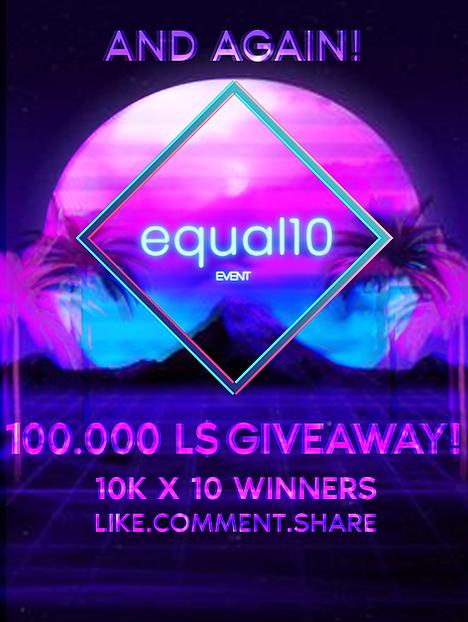 equal10 giveaway