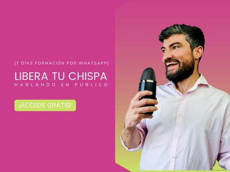 Reto Whatsapp Overdrive ⚡️ Libera tu chispa hablando en público en 7 días