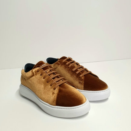 SNEAKERS VELLUTO BEIGE - NATIONAL STANDARD