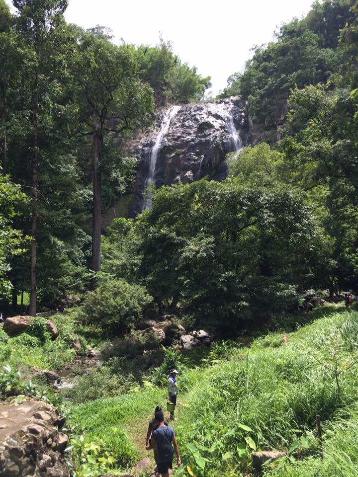 Waterfall in Kamphaeng Phet province, Thailand.