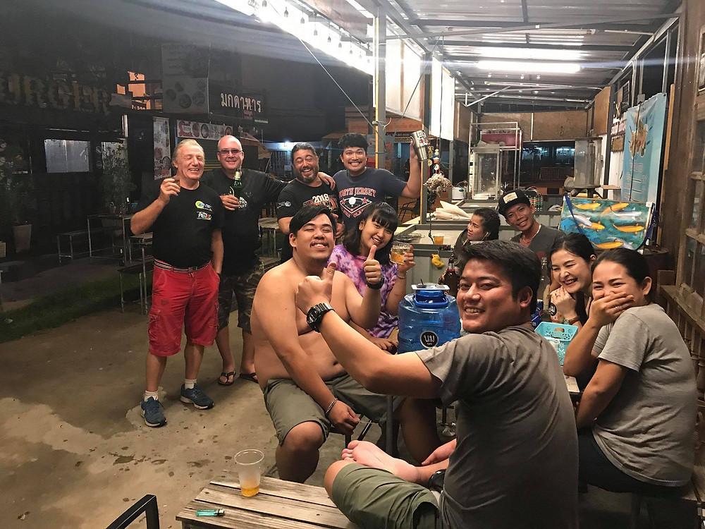 Touring Thailand on motorbikes.