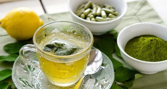 A cup of refreshing Moringa tea