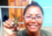 holding a pregnant crayfish.jpg