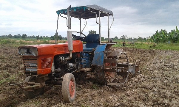 Farm machinery in rural Thailand.