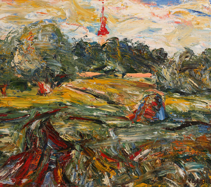 Пейзаж с Лиедуржской церковью