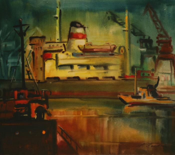 Краны в порту