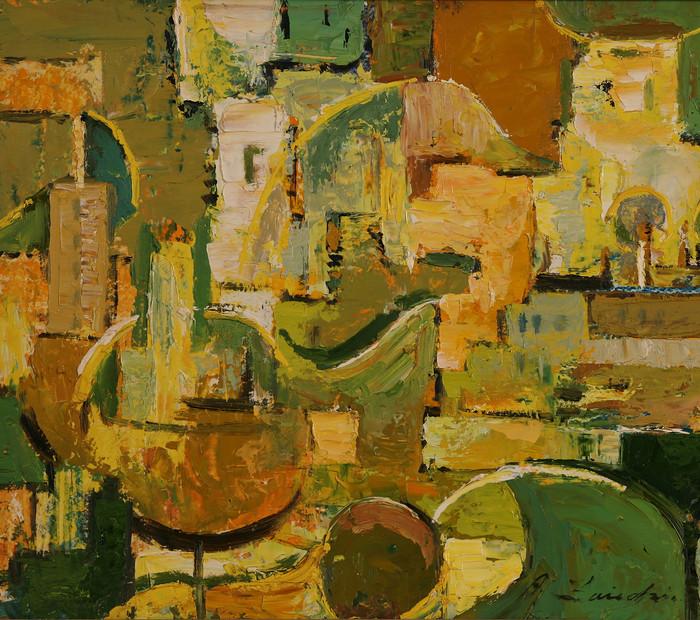 Желто-зеленая композиция