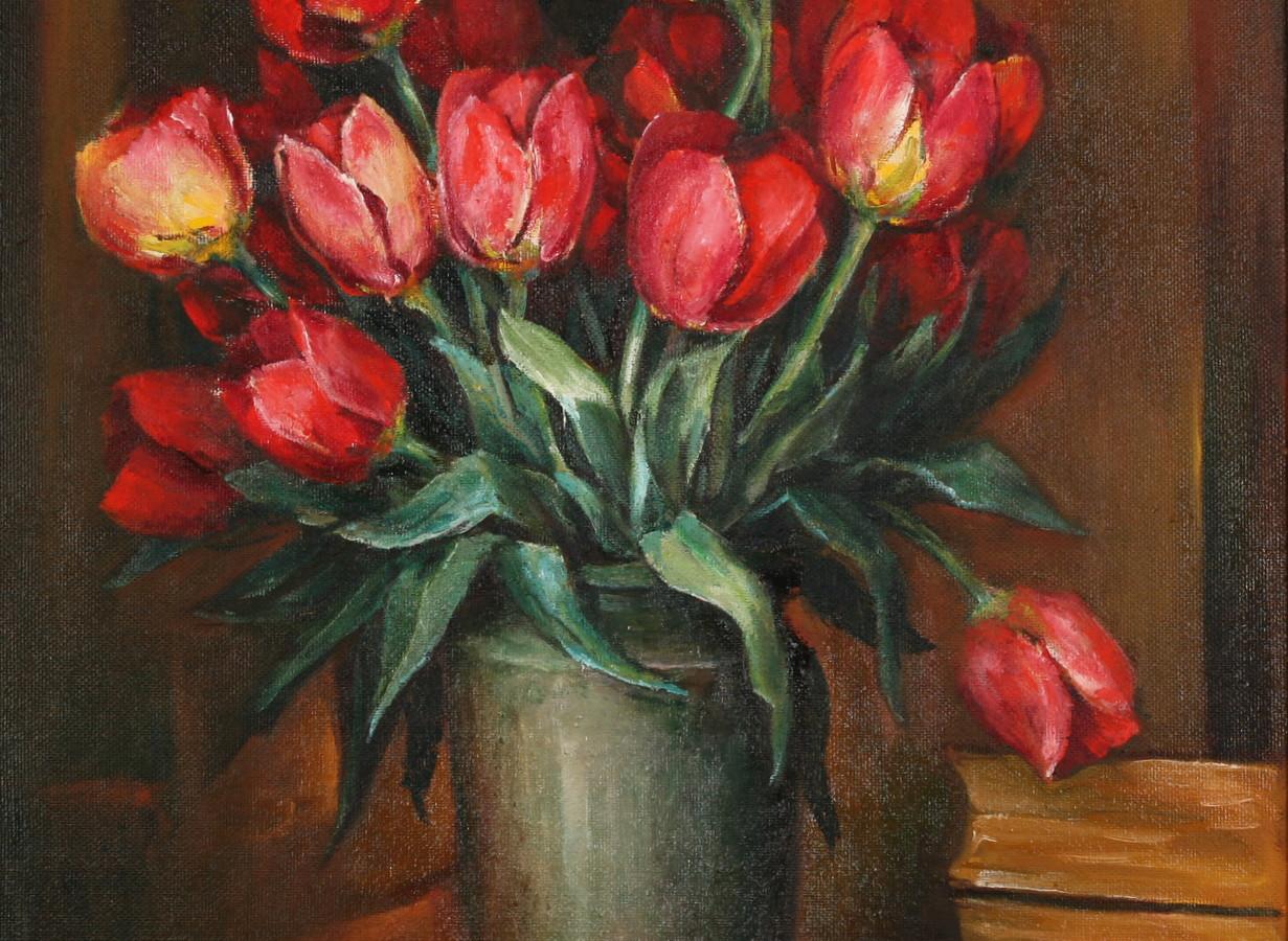 Натюрморт с тюльпанами
