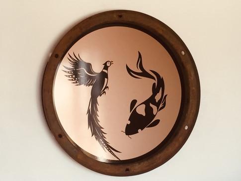 Phoenix Birds and Aquatics Logo on Wall