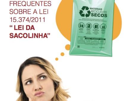"""""""Poupe recursos naturais! Use sacolas reutilizáveis"""" - Cartilha da ACSP"""