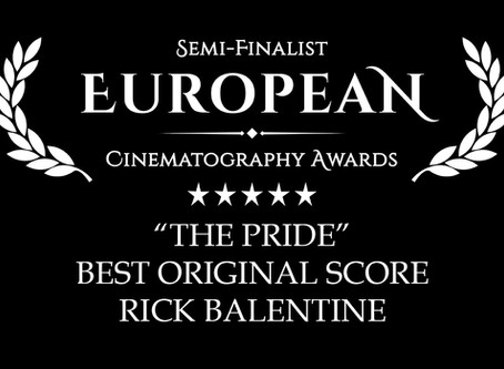"""""""THE PRIDE"""" SCORE GETS THE NOD AS A FINALIST IN THE EUROPEAN CINEMATOGRAPHY AWARDS"""