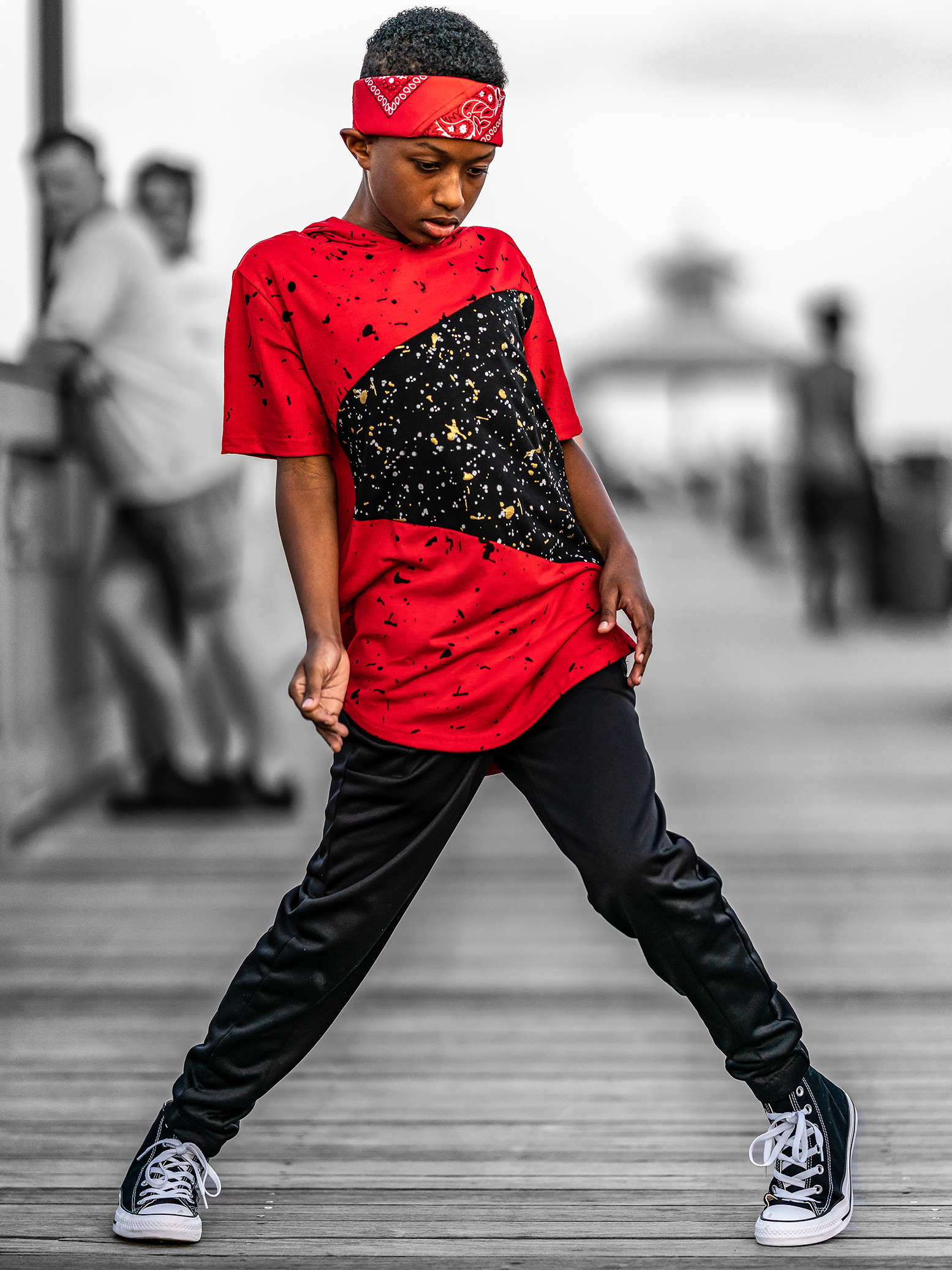 Hip hop Jayden ready to dance