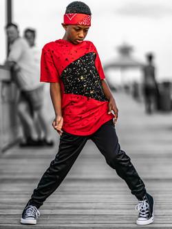 Hip hop Jayden ready to dance