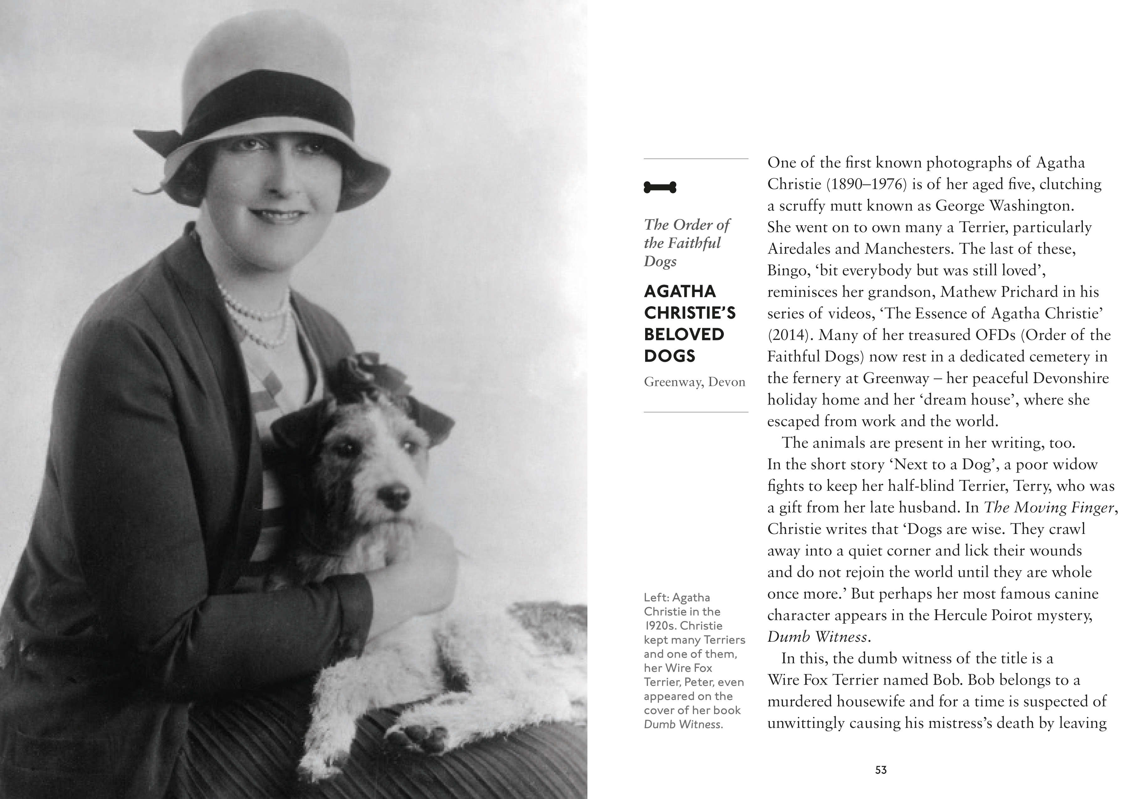 Agatha Christie and her terrier