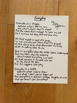 Personalized Handwritten Lyrics