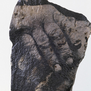 John Ridds Hands - Exmoor Rock © Gillian Allard 2000 The Year Of The Artist commission.   Liquid photographic emulsion on a local rock.  Approx 2.5ft x 1.5ft
