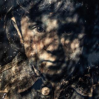 Mina with shadows - a work in progress © Gillian Allard  Refugee Stories 2018