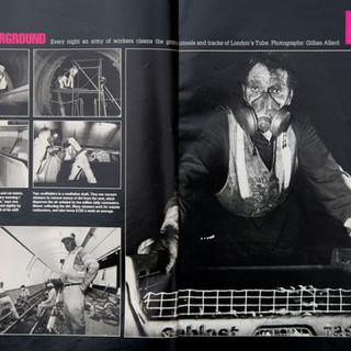 London Underground Cleaners - Observer Magazine 1992