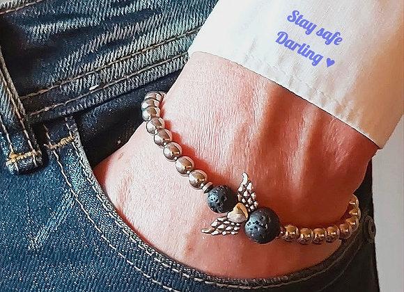 Männer Armband Stay safe, Darling♥