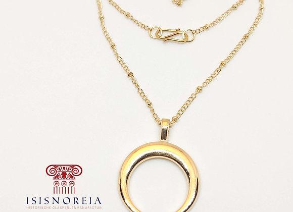 """""""Lunula argentum et aurea"""" römische Halskette"""