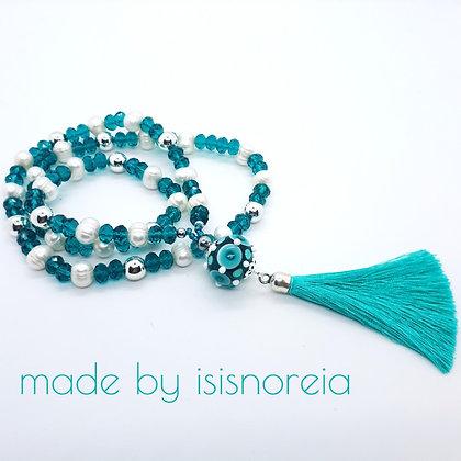 """Boho-Necklace """"Smaragd"""""""