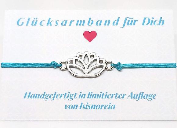 Statement Armband Lotus türkis