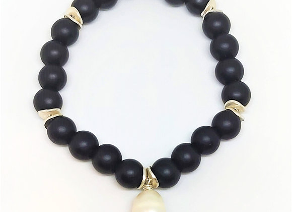 """Black Beauty"" Onyx-Armband"