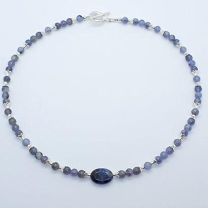 Römisches Collier mit Blauachat